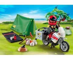 PM5438 Мотоциклист и складная палатка