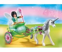 Карета с Единорогом и фея бабочка