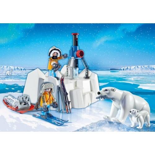 «Исследователи Арктики с полярными медведями,» PM9056