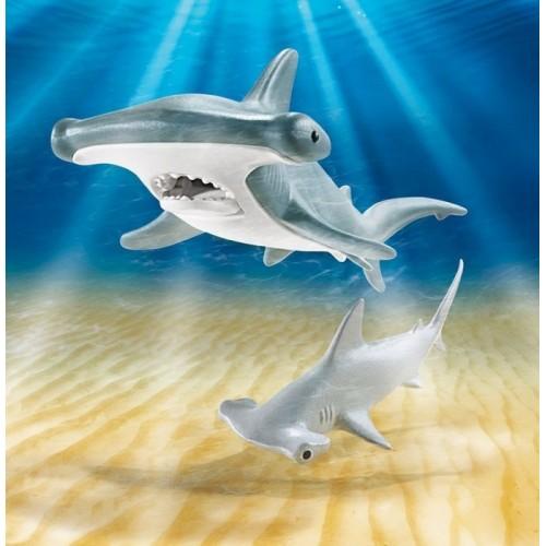 «Молотоголовая акула с детенышем» PM9065