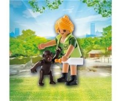 PM9074 Смотритель зоопаркас детенышем гориллы
