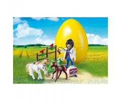 Яйцо: Ветеринар с жеребятами