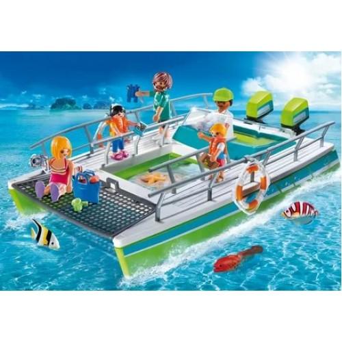«Лодка со стеклянным дном с подводным двигателем» PM9233
