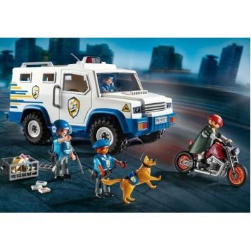 Полицейская машина для перевозки денег