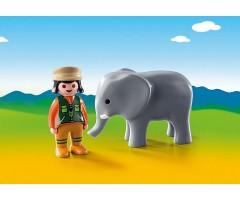 PM9381 Смотритель зоопарка со слоном