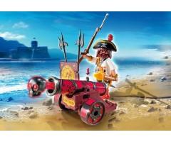 PM6163 Красная интерактивная пушка с пиратом