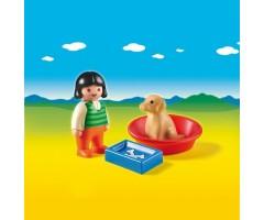PM6796 Девочка с собакой