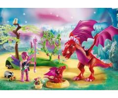 PM9134 Дружелюбный дракон с ребенком